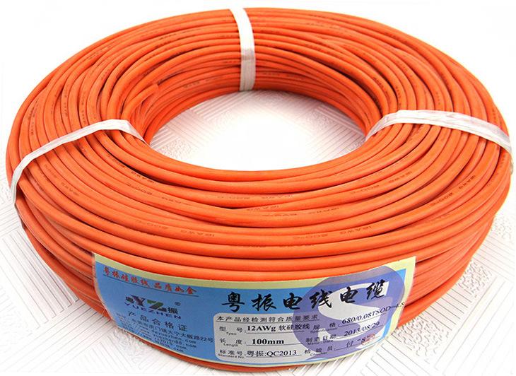 供应硅胶电线12号高压600v电池插头线硅胶特软线